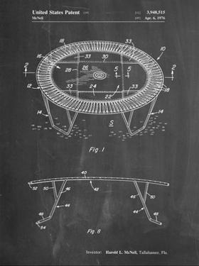 PP1111-Chalkboard Trampoline Patent Poster by Cole Borders