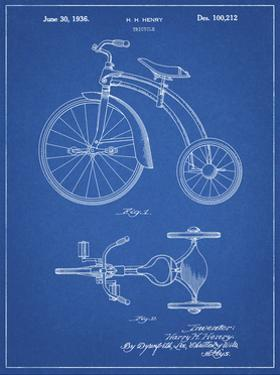 PP1114-Blueprint Tricycle Patent Poster by Cole Borders