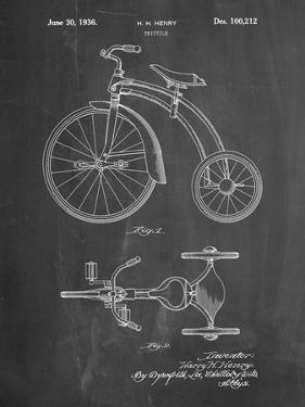 PP1114-Chalkboard Tricycle Patent Poster by Cole Borders