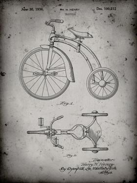 PP1114-Faded Grey Tricycle Patent Poster by Cole Borders