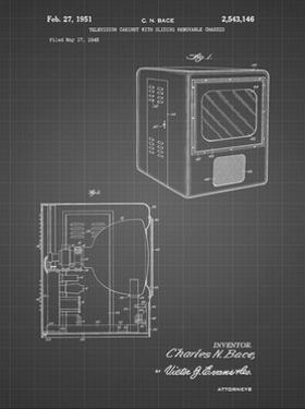 PP1115-Black Grid Tube Television Patent Poster by Cole Borders