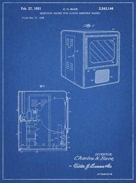 PP1115-Blueprint Tube Television Patent Poster by Cole Borders