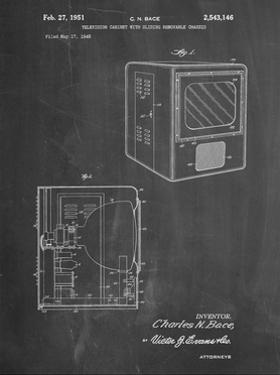 PP1115-Chalkboard Tube Television Patent Poster by Cole Borders