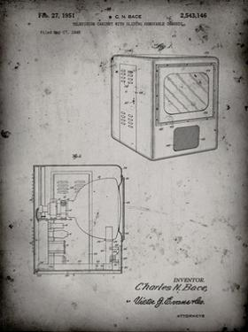 PP1115-Faded Grey Tube Television Patent Poster by Cole Borders