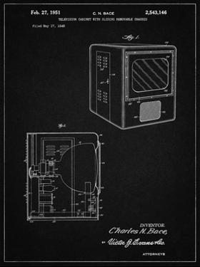 PP1115-Vintage Black Tube Television Patent Poster by Cole Borders