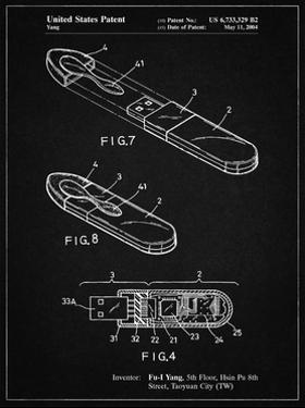 PP1120-Vintage Black USB Flash Drive Patent Poster by Cole Borders