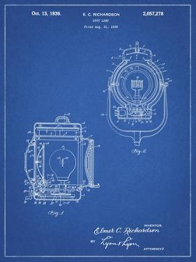 PP1123-Blueprint Vintage Movie Set Light Patent Poster by Cole Borders