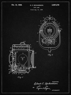 PP1123-Vintage Black Vintage Movie Set Light Patent Poster by Cole Borders
