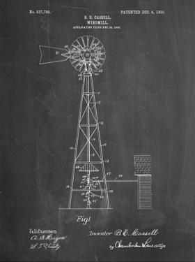 PP1137-Chalkboard Windmill 1906 Patent Poster by Cole Borders