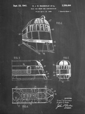 PP1141-Chalkboard Zephyr Train Patent Poster by Cole Borders
