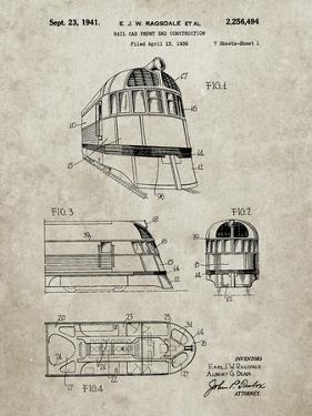 PP1141-Sandstone Zephyr Train Patent Poster by Cole Borders