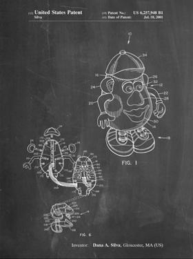 PP123- Chalkboard Mr. Potato Head Patent Poster by Cole Borders