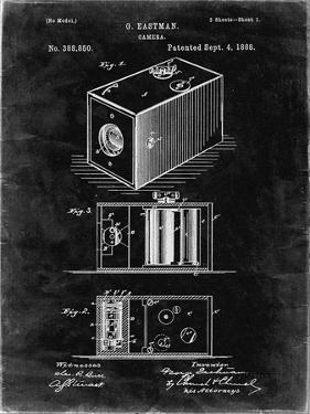 PP126- Black Grunge Eastman Kodak Camera Patent Poster by Cole Borders
