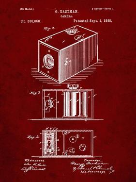 PP126- Burgundy Eastman Kodak Camera Patent Poster by Cole Borders