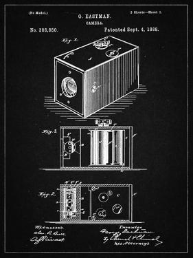 PP126- Vintage Black Eastman Kodak Camera Patent Poster by Cole Borders