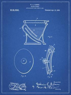 PP129- Blueprint Siphoning Water Closet 1909 Patent Poster by Cole Borders