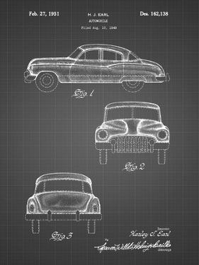 PP134- Black Grid Buick Super 1949 Car Patent Poster by Cole Borders