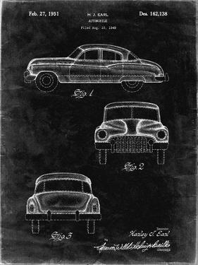 PP134- Black Grunge Buick Super 1949 Car Patent Poster by Cole Borders