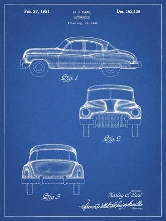 PP134- Blueprint Buick Super 1949 Car Patent Poster by Cole Borders
