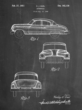 PP134- Chalkboard Buick Super 1949 Car Patent Poster by Cole Borders