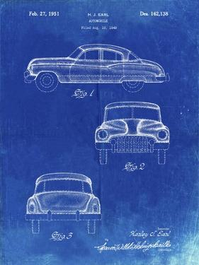 PP134- Faded Blueprint Buick Super 1949 Car Patent Poster by Cole Borders