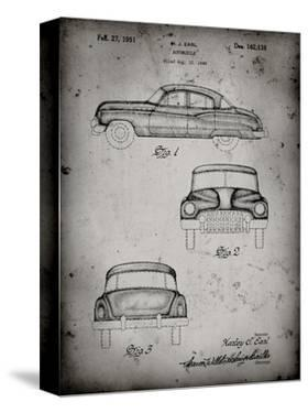 PP134- Faded Grey Buick Super 1949 Car Patent Poster by Cole Borders