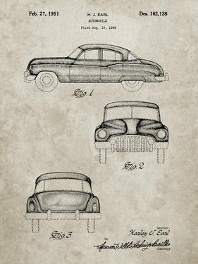 PP134- Sandstone Buick Super 1949 Car Patent Poster by Cole Borders