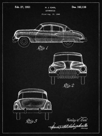 PP134- Vintage Black Buick Super 1949 Car Patent Poster by Cole Borders
