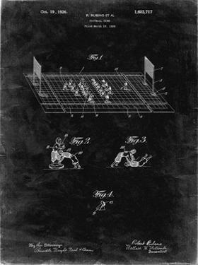 PP142- Black Grunge Football Board Game Patent Poster by Cole Borders