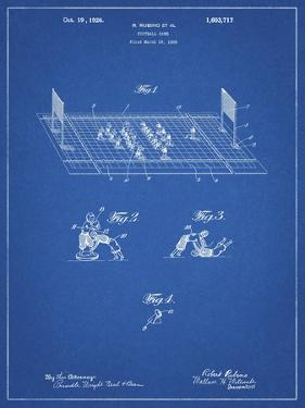 PP142- Blueprint Football Board Game Patent Poster by Cole Borders