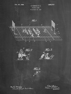 PP142- Chalkboard Football Board Game Patent Poster by Cole Borders