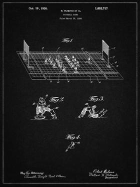 PP142- Vintage Black Football Board Game Patent Poster by Cole Borders