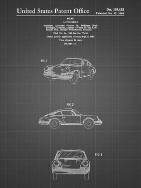 PP144- Black Grid 1964 Porsche 911  Patent Poster by Cole Borders