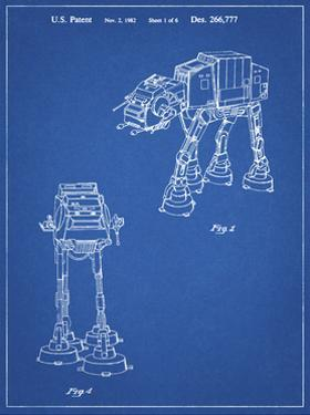PP146- Blueprint Star Wars AT-AT Imperial Walker Patent Poster by Cole Borders