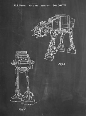 PP146- Chalkboard Star Wars AT-AT Imperial Walker Patent Poster by Cole Borders