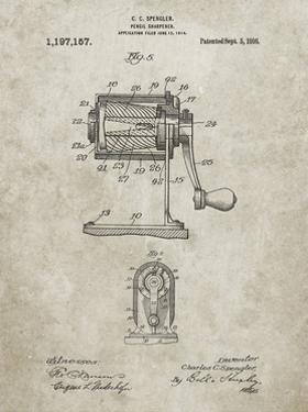 PP162- Sandstone Pencil Sharpener Patent Poster by Cole Borders