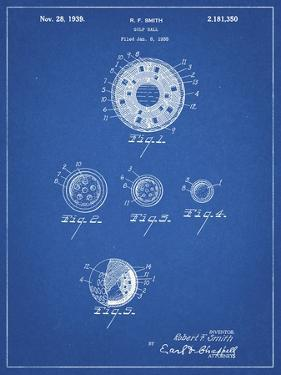 PP168- Blueprint Golf Ball Uniformity Patent Poster by Cole Borders