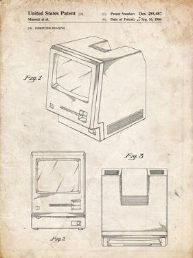 PP176- Vintage Parchment First Macintosh Computer Poster by Cole Borders