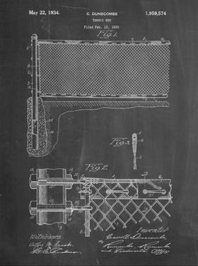 PP181- Chalkboard Tennis Net Patent Poster by Cole Borders