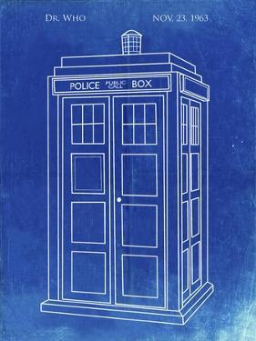 PP189- Faded Blueprint Doctor Who Tardis Poster by Cole Borders