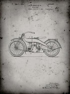 PP194- Faded Grey Harley Davidson Motorcycle 1919 Patent Poster by Cole Borders