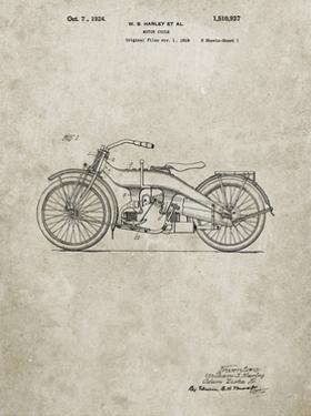 PP194- Sandstone Harley Davidson Motorcycle 1919 Patent Poster by Cole Borders