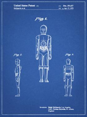 PP195- Blueprint Star Wars C-3PO Patent Poster by Cole Borders