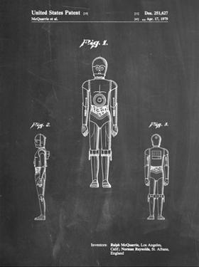 PP195- Chalkboard Star Wars C-3PO Patent Poster by Cole Borders