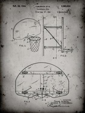 PP196- Faded Grey Albach Basketball Goal Patent Poster by Cole Borders