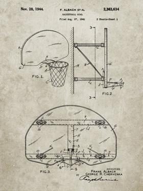 PP196- Sandstone Albach Basketball Goal Patent Poster by Cole Borders