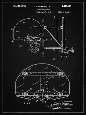 PP196- Vintage Black Albach Basketball Goal Patent Poster by Cole Borders