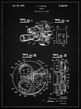 PP198- Vintage Black Bell and Howell Color Filter Camera Patent Poster by Cole Borders