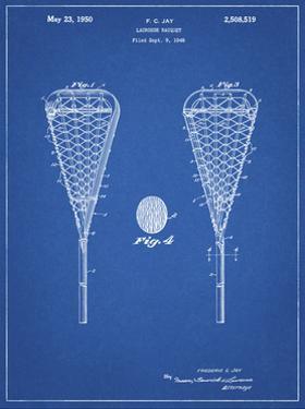 PP199- Blueprint Lacrosse Stick 1948 Patent Poster by Cole Borders