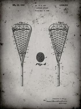 PP199- Faded Grey Lacrosse Stick 1948 Patent Poster by Cole Borders